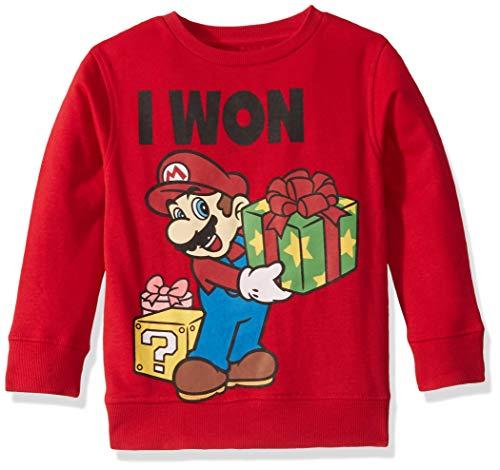 Nintendo Sudadera FEA de Navidad para niños, Won/Rojo, 6-7