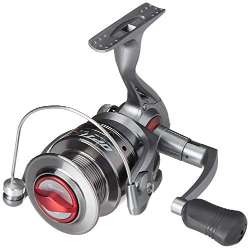 Quantum Optix Spinning Fishing Reel, 4 Bearings (3 + Clutch), CMulti-Stop Anti-Reverse with Smooth, Precisely-Aligned Gears, Size 80, Clam Packaging