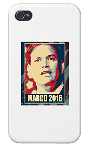 Apple iPhone Custom Case 5 5s White Plastic Snap on - Marco Rubio - 2016 Presidential Candidate Design