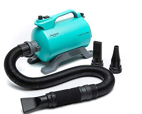 shernbao Hundefön Pet Dryer 2600W Hundepflege Haartrockner Blower mit Einstellbarer Windgeschwindigkeit und Temperaturen, Lesie, mit Luftfilte und 3 Düsen
