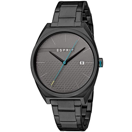 Esprit Herren Analog Quarz Uhr mit Edelstahl Armband ES1G056M0085