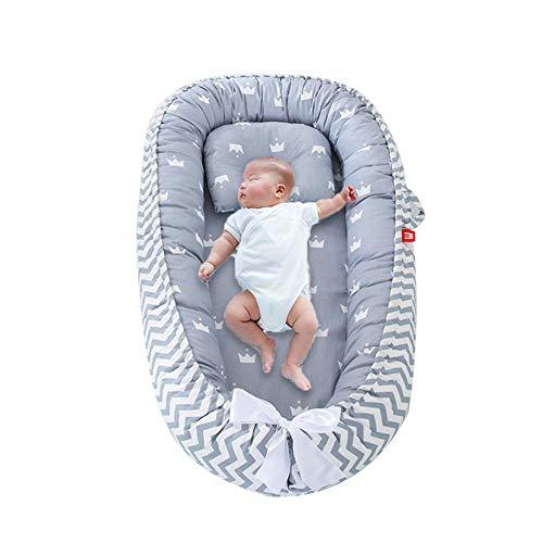 FOONEE Tumbona de bebé recién Nacido para Dormir Juntos, Cama Nido de bebé portátil Multifuncional 100% algodón orgánico Tumbona recién Nacida Suave y Transpirable para Viajar