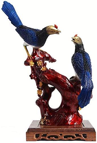 LULUDP-Decoración Escultura de cobre de aves decoración estatua, arte figuras decorativas, regalo Decoración Animal casa decoración de la sala de bodas decoración del sitio del regalo de boda Manualid