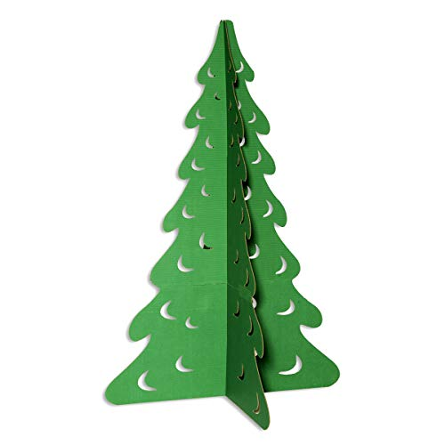 Anderson's Green Evergreen Tree Cardboard Kit, 69 Inches x 46 Inches Diameter