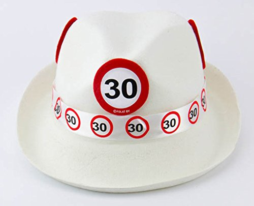 Creative Traffic Sign 30th Chapeau Blanc