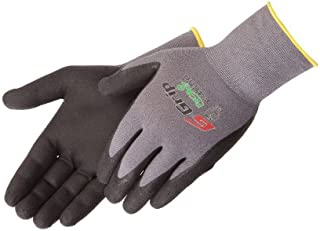 Liberty G-Grip Nitrile Micro-Foam Palm Coated Seamless Knit Glove with 13-Gauge Gray Nylon Shell, X-Large, Black (Pack of 12)
