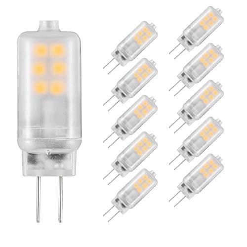 Eco.Luma G4 LED 12V AC/DC, Warmweiß 2700K, Leuchtmittel 2W Ersatz 10W 15W 20W Halogenlampe, Nicht Dimmbar, Stiftsockel 190LM Kein Flackern, 10er Pack