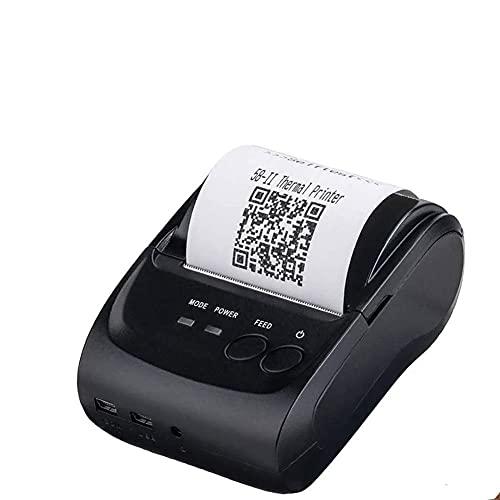 UOOD Impresora térmica Bluetooth móvil, factura Personal portátil de 58 mm POS Impresora de Recibos inalámbricos, Compatible con Android, Windows, iOS