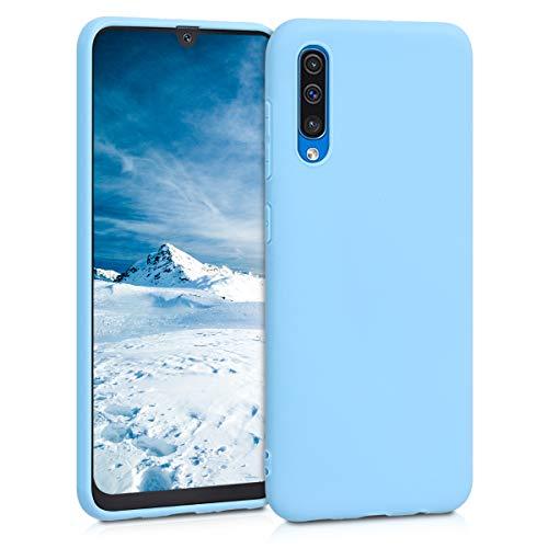 kwmobile Custodia Compatibile con Samsung Galaxy A50 - Cover in Silicone TPU - Back Case per Smartphone - Protezione Gommata Grigio Azzuro