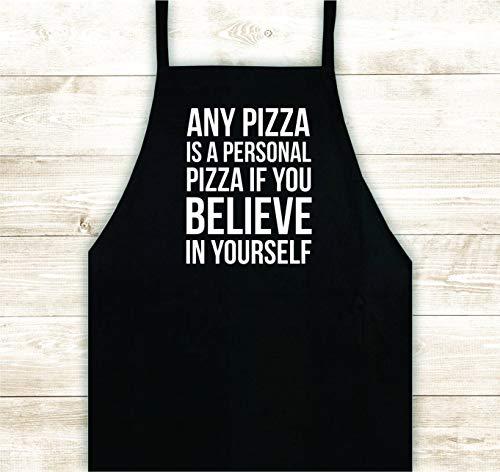 Tr73ans Pizza Geloof in Jezelf Schort Custom Ontwerp Warmte Druk Vinyl Bbq Cook Grill Barbeque Chef Grappig Gift Mannen Keuken Meisjes Moeder Leuke Meisjes