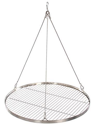 60 cm Grillrost Edelstahl für Schwenkgrill 3 Bein BBQ Grill Rost mit Seil neu