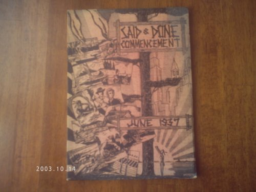 SAID & DONE JUNE 1937 COMMENCEMENT YEARBOOK MUSKEGON HIGH SCHOOL MUSKEGON MI