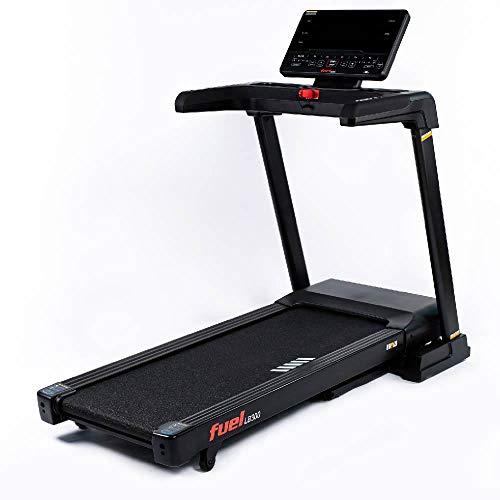 Fuel Fitness LB300 Laufband für zuhause, Laufband elektrisch klappbar, 18 km/h, 15{ac82fb97b163248671f6b071b06ad259a078c6707b66515b1404aa3ba5a501c4} Steigung, 130x46cm Lauffläche, Pulsgurt inkl.