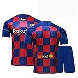 Backboards 2019-2020 Retro Season Jersey,Barcelona #10 Club Camiseta Primera Equipación,Portero Camiseta de Manga Corta,Unisex Adulto Niños,Red,XXL