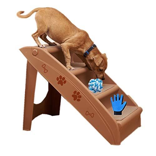 ZYQ Escaleras para Mascotas Escalera de Escalada Gruesa Plegable Pequeños Gatos y Perros Escaleras Antideslizantes Casa Cama Sofá Pasos (Color : Brown)