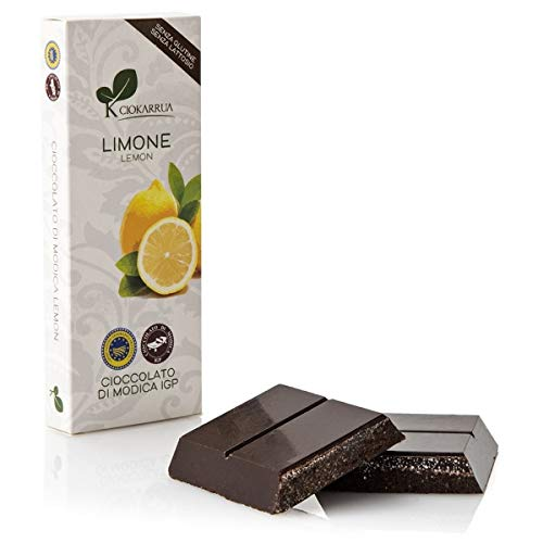 チョカッルーア モディカ チョコレート レモン (100g) [イタリア シチリア] | CIOKARRUA MODICA CHOCOLATE IGP | ギフト プレゼント カカオ50% ヴィーガン 板チョコ スイーツ ポリフェノール