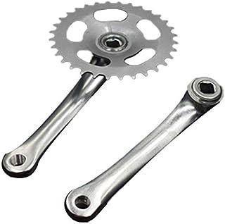 JVSISM Bike Crankset Bicycle Chainring Pedals 32T Crank 165mm Single Speed Bike Chainwheel