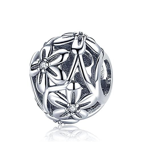 Pandora 925 Colgantes de plata esterlina Diy Codemonkey Flores Blooming Charm Beads Fit Mujeres Charm Pulseras Collares Fabricación de joyas cmc