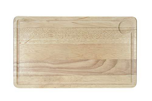 Cosy & Trendy 00887 Fleischbrett, Gummibaumholz, 39 x 23 x 1,8 cm