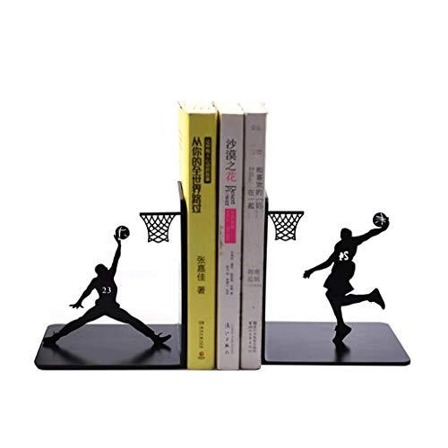 Xiix Reggilibri Creativo Pallacanestro Metallo Bookends Prenota Supporto del Basamento Semplice Giocare a Basket Book Ends, Studenti Ragazzo Regalo di Compleanno Creativo fermalibri