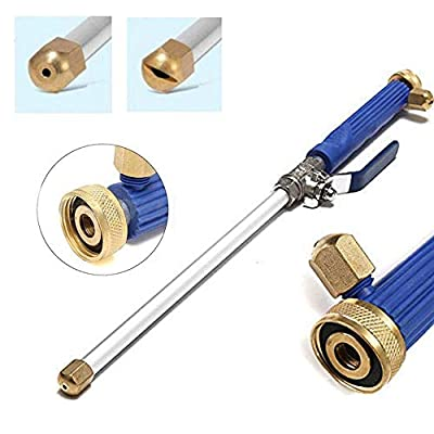 RASHION Deep Jet Power Washer Wand Extendable High Pressure Garden Sprayer Attachment with Water Hose Nozzle for Glass Cleaning, Foam Cannon Car Window Washer, 2 Tips from RASHION