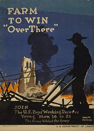 De la vendimia de la granja de Estados Unidos WW1 1914-1918 Propaganda para ganar allí. Únete a los Estados Unidos niños de la reserva de trabajo para los jóvenes 16 A 21 250gsm tarjeta del arte brillante A3 cartel de la reproducción