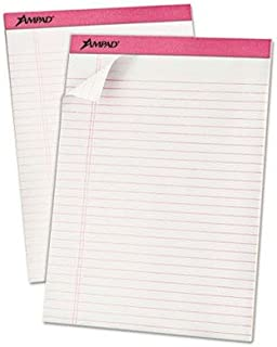 """Ampad - Breast Cancer Awareness Pads Lgl/Wide Rule Ltr Pink 6 50-Sheet Pads/Pack """"Product Category: Paper & Printable Medi... photo"""