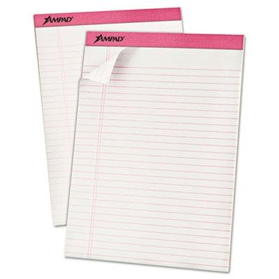 Ampad - Breast Cancer Awareness Pads Lgl/Wide Rule Ltr Pink 6 50-Sheet Pads/Pack