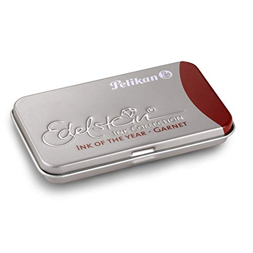 Pelikan Edelstein GTP/6 - Estuche de metal con cartuchos de tinta para pluma estilográfica, color rojo oscuro