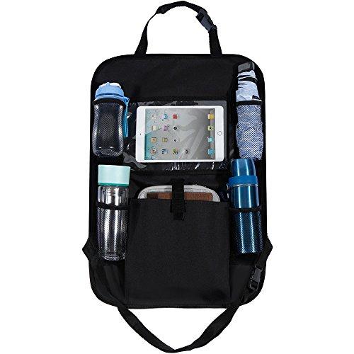 Rovtop Organizador para Asientos de Coches Organizador de Coche con Bolsillo de la Pantalla Táctil para tablet Android y iOS hasta 10 '- Protector Trasero del Asiento de Coche