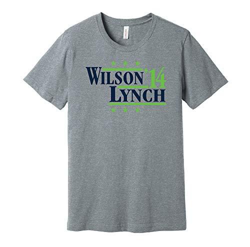 Wilson & Lynch '14 - Camicia Parodia Campagna Politica - Versione Blu e Verde - Stampa Death Ray Grigio XXL