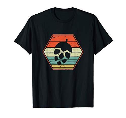 Hopfen T-Shirt - Vintage Retro Craft Bier Shirt Geschenk
