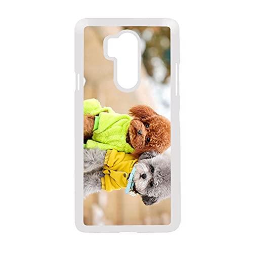 Hermosa para Chico Compatible para LG G7 Impresión Poodle Carcasa De Teléfono De Plástico Duro