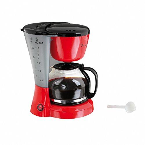 Domoclip DOM163RN Independiente - Cafetera (Independiente, Cafetera de filtro, 1,2 L, De café molido, 800 W, Negro, Rojo)