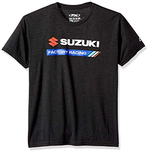 FX FACTORY EFFEX Men's Suzuki Factory Racing t-Shirt, Heather Black, L
