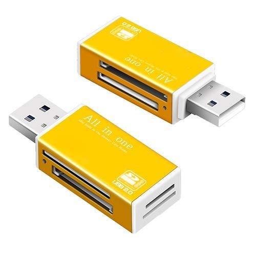 QTDH 2 Stks SD-kaartlezer - Geheugen SD-kaartlezer - Voor Memory Stick Pro Duo Micro SD, TF, M2, MMC, SDHC MS-kaart - Reader A Variety