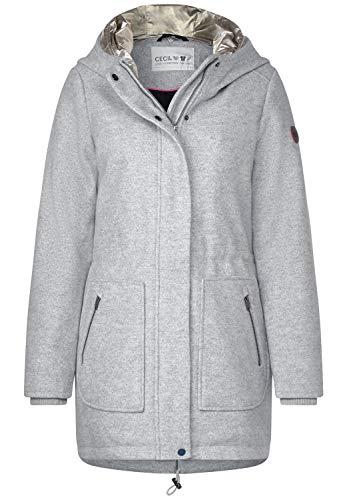 Cecil Damen 100528 Mantel, Grau (Mineral Grey Melange 10327), XX-Large (Herstellergröße:XXL)