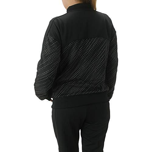 プーマ【PUMA】DRYCELLドライセルエナジーリブクルーネックジャケット×ロングパンツ上下セットジャージレディースM(157-163cm)516456×516187ブラック