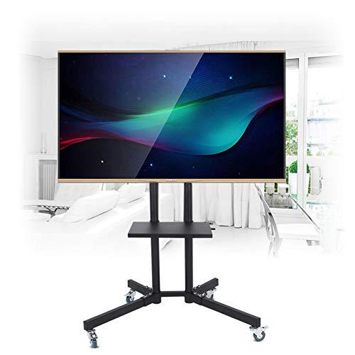 gototop Soporte Mueble TV con Ruedas pie Soporte Mobile Altura Ajustable para Pantalla Plana LCD/LED de 32a 65Pulgadas