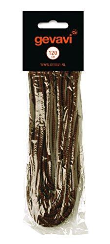 Gevavi Safety VETE05120 - Lacci per scarpe, forma rotonda, 10 paia, 120 mm, colore: Marrone