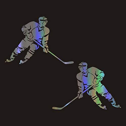 chenche Auto Aufkleber 12 * 19 cm cool Eishockey Körper Aufkleber wasserdicht lustig Vinyl Aufkleber reflektierende Auto Dekoration Aufkleber Auto Styling Zubehör Auto Aufkleber Aufkleber