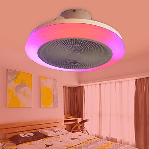 Ventilatore Soffitto Con Luce Lampadario Ventilatore Silenzioso Dimmerabile Ventilatore Da Soffitto Con Telecomando 3 Velocita Plafoniera Con Ventilatore E Musica Lampadario Soffitto