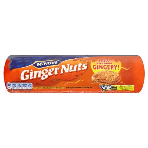 McVitie Ginger Nuts 250g PMP (Packung mit 12 x 250g)