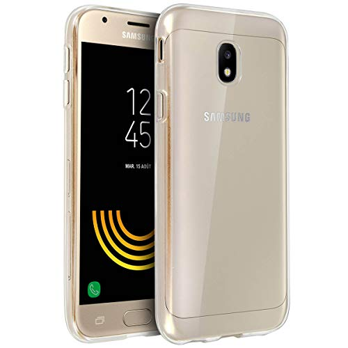 NEW'C Coque Compatible avec Samsung Galaxy J3 (2017) SM-J330FN, Ultra Transparente Silicone en Gel TPU Souple Coque de Protection avec Absorption de Choc et Anti-Scratch