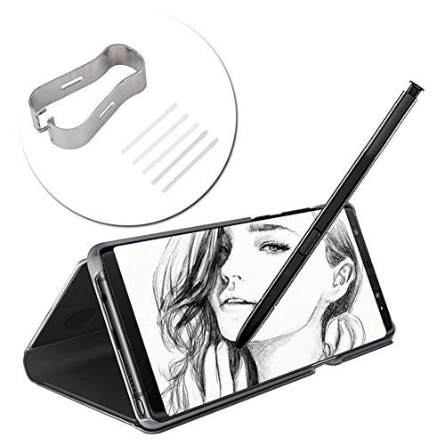 Replacement S Pencil Nib Pens, Pencil Refill Tool Set for Samsung Galaxy Note 8/9 Tab S3 / 4 (Black)(White)