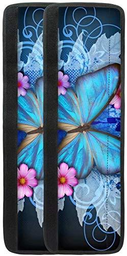 chaqlin Funda para manija de puerta de refrigerador, diseño de mariposa, color azul, para evitar manchas, puntas de los dedos, goteos, manchas de alimentos y aceite para frigorífico.