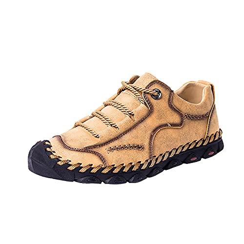 YOUQQI Herren Freizeitschuhe Sommer Leder Atmungsaktive Flache Mokassins Neue Turnschuhe Wasser Aqua Schuhe Schnell Trocknendes Schuhwerk Swimming Sneakers