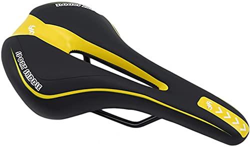 Asiento De Bicicleta De Montaña De La Montaña De La Bicicleta, Cómodo Gel Asiento De Bicicleta Asiento MTB, Silla De Bicicleta De Carretera Con Cubierta De Lluvia Y Llavero ( Color : Black Yellow )