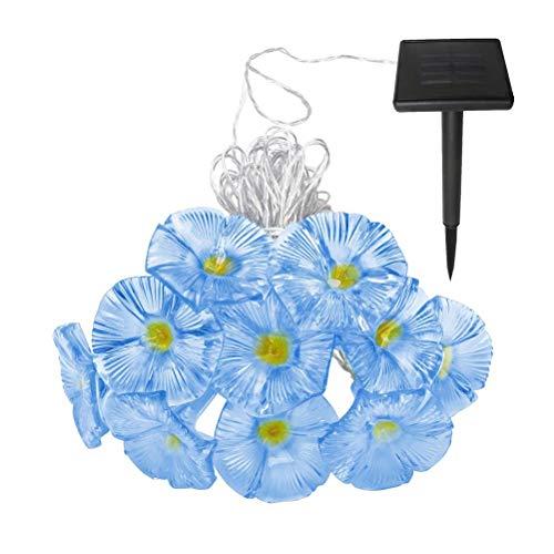 BSTQC Luz LED de la decoración de la gloria de la mañana, 10 m/33 pies de la cadena de luces solares al aire libre de las flores del LED de las luces de hadas del patio impermeable de la decoración