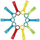 Ringe für Baby Kinderbetten,10 Pack Griff zum Aufstehen Reisebetten Abnehmbarer Handringe Baby Bed Rings für Damit Babys aufstehen Stehen Stehen Blau Rot Orange Grün Gelb